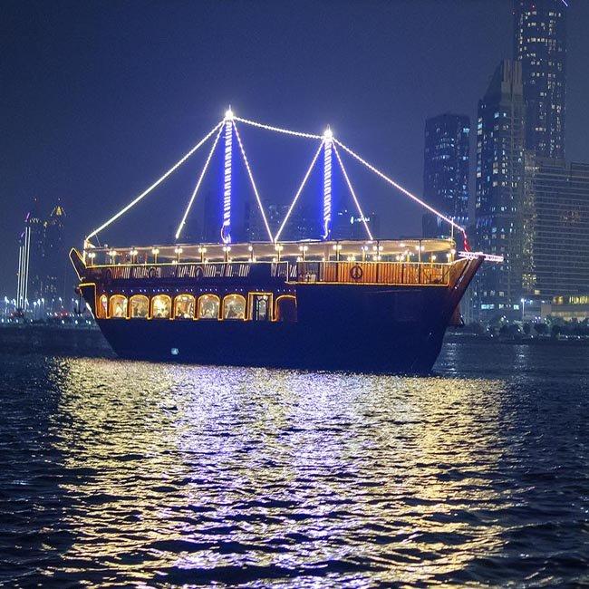 New Year Eve Cruise Abu Dhabi 2021 | NYE Dhow Cruise Dinner Party